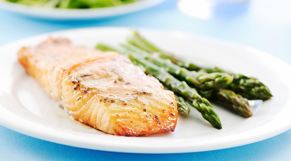 Miso Lemon Baked Salmon With Asparagus