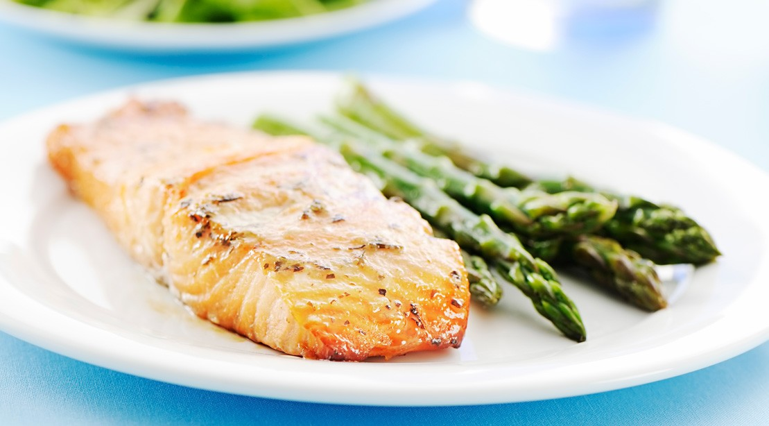 Miso Lemon Baked Salmon With Asparagus