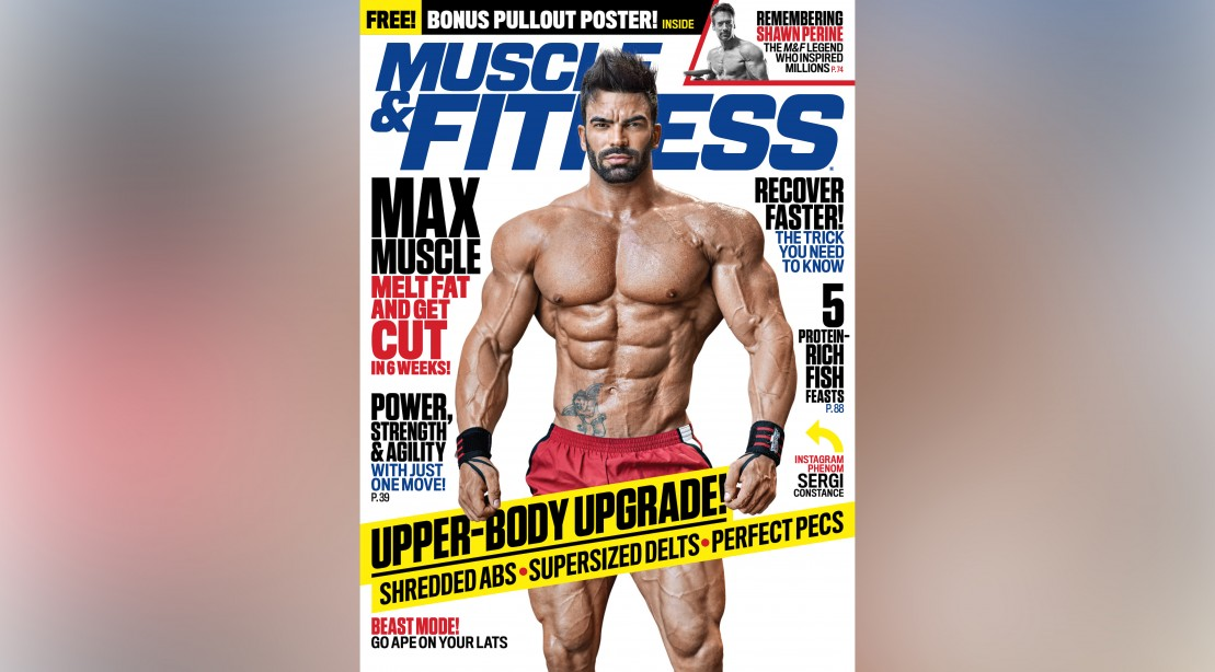 Sergi Constance on the Cover of 'Muscle & Fitness'