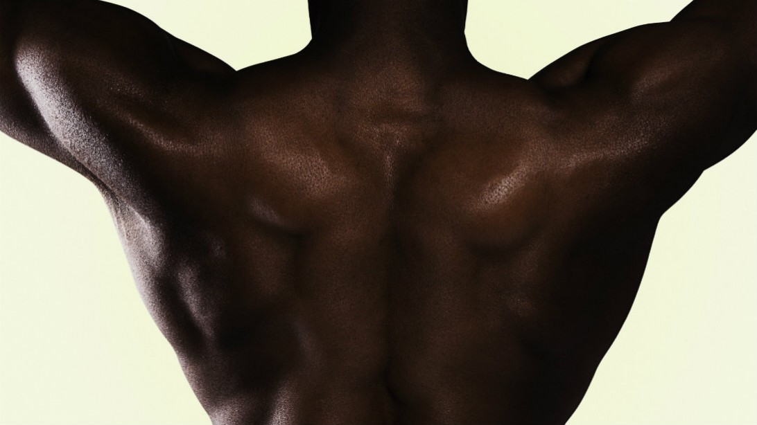 Man's muscular back