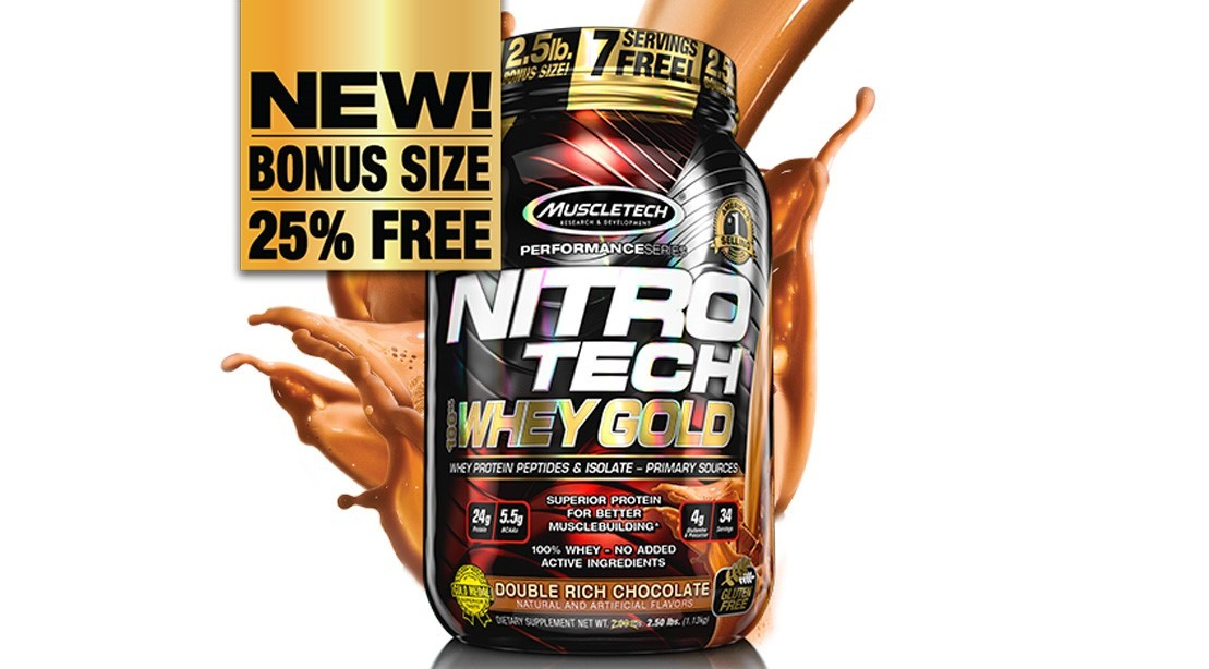 Nitro-Tech 100% Whey Gold Packs the Protein