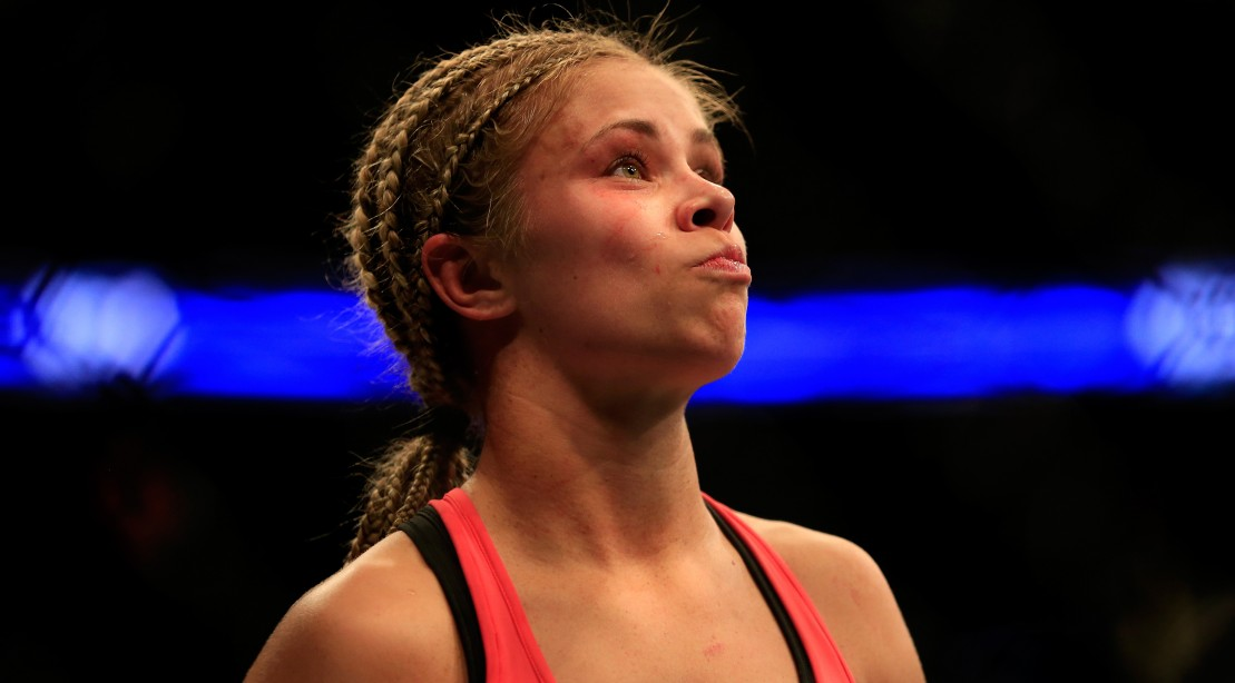 Paige VanZant Following Her Win Against Felice Herrig on April 18, 2015