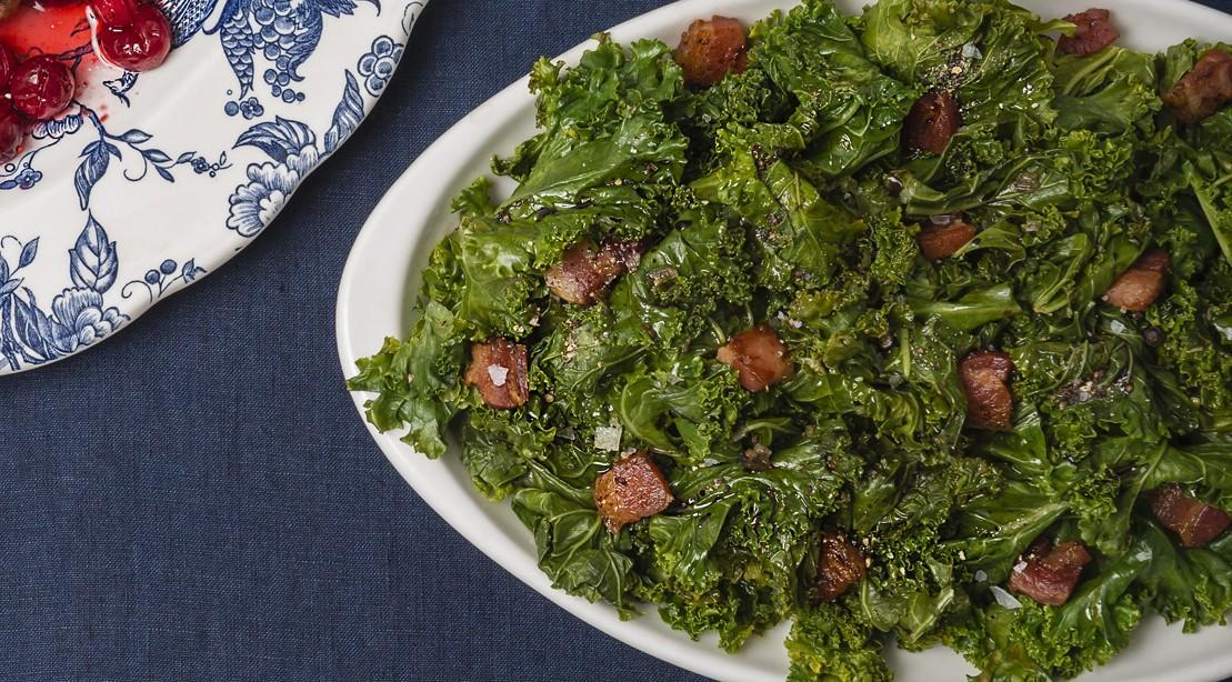 Pancetta Roasted Kale