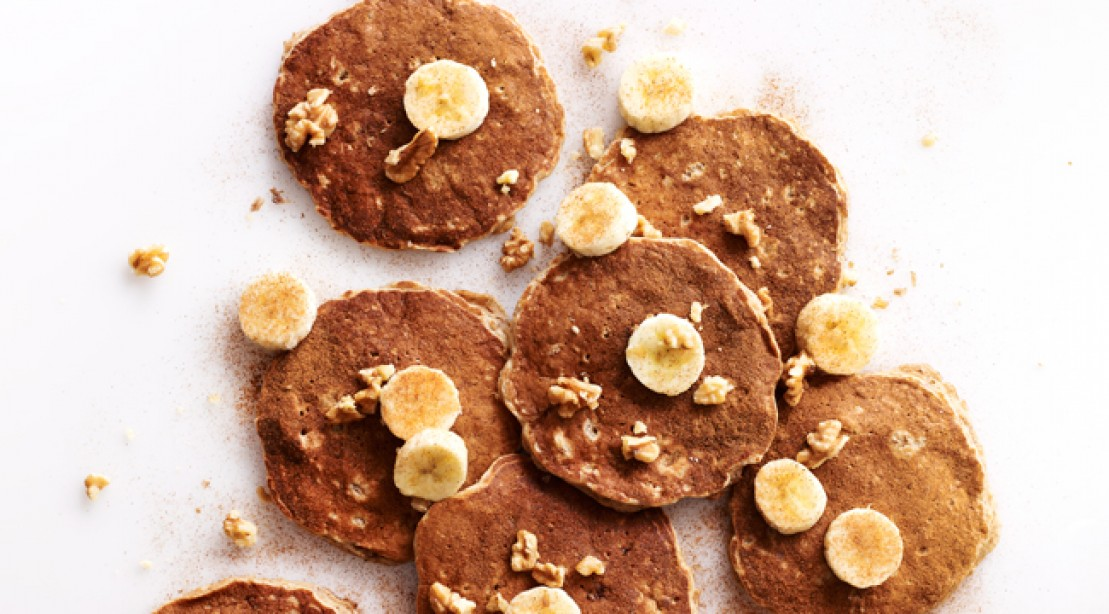 Breakfast of Champions: Peanut-Banana Pancakes