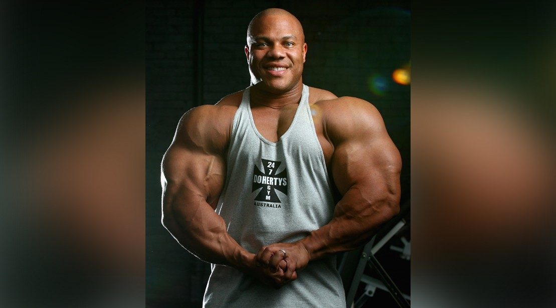 Phil Heath Flexing His Muscles