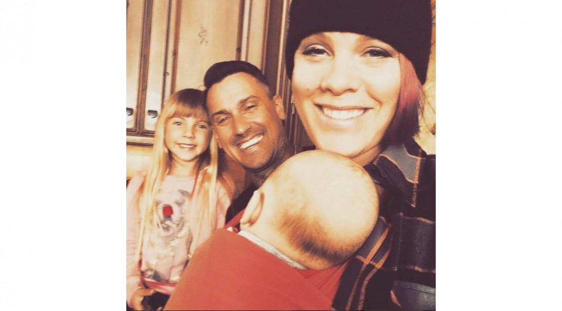 Pink With Husband and Children