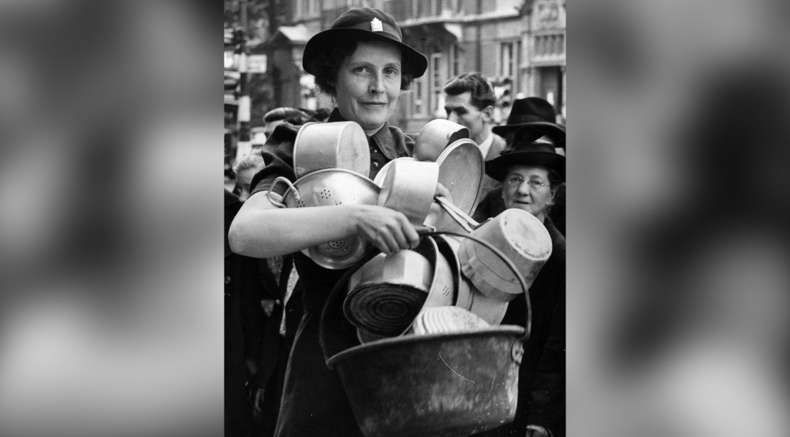 Woman With Pots and Pans
