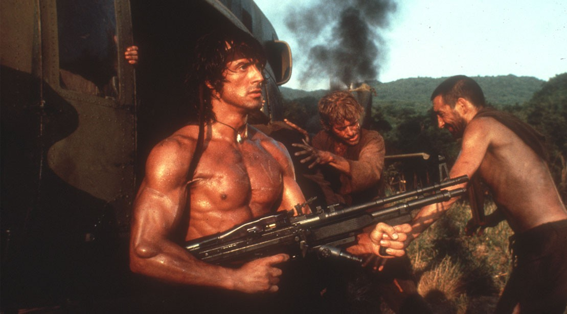 Photo of Sylvester Stallone in Rambo series