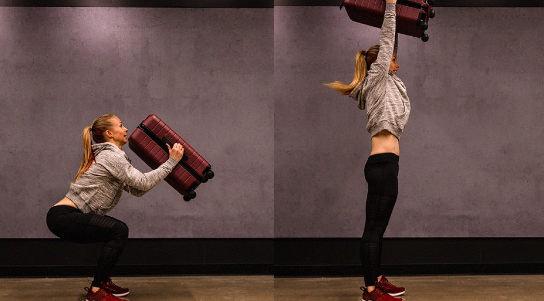 Travel Suitcase Workout
