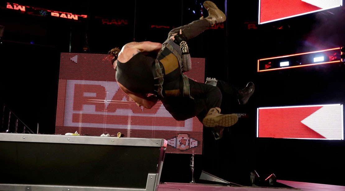 'Raw' Recap: Roman Reigns Drops Braun Strowman Through the Stage