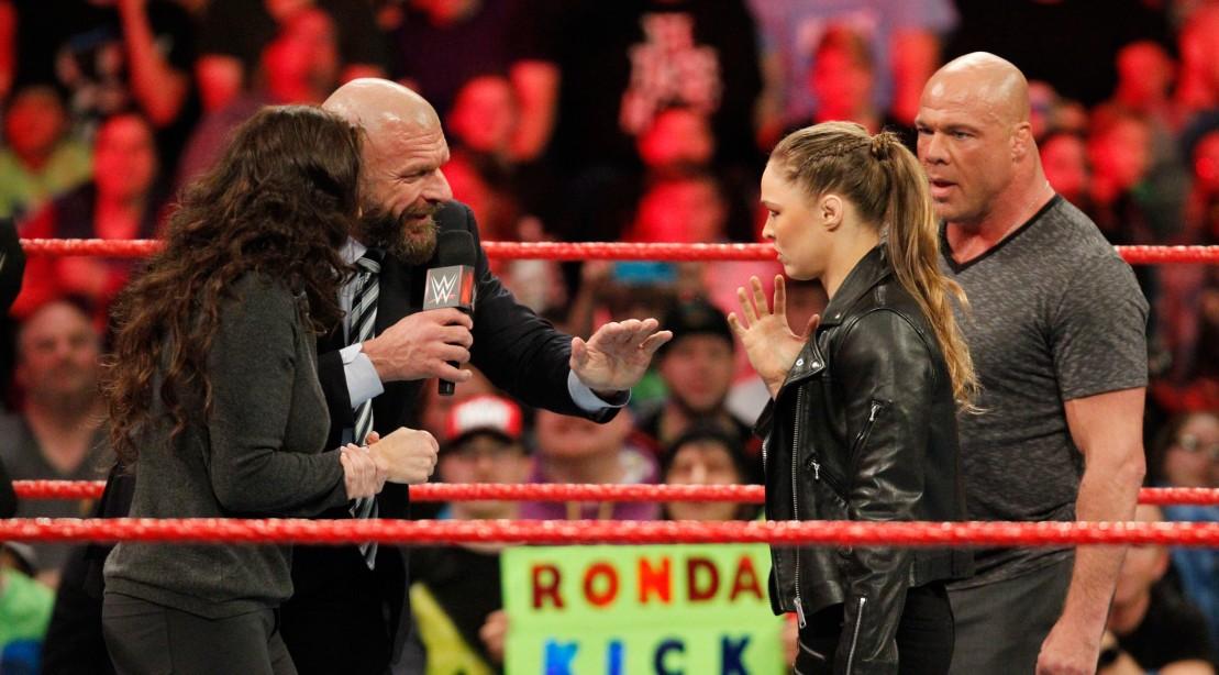 Ronda Rousey and Kurt Angle to Take on Triple H and Stephanie McMahon