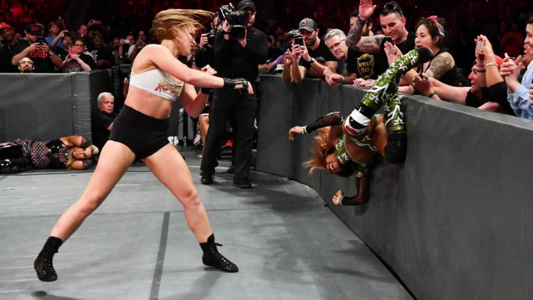WWE 'Raw' Recap: Ronda Rousey Defeats Alicia Fox in Her 'Raw' In-Ring Debut