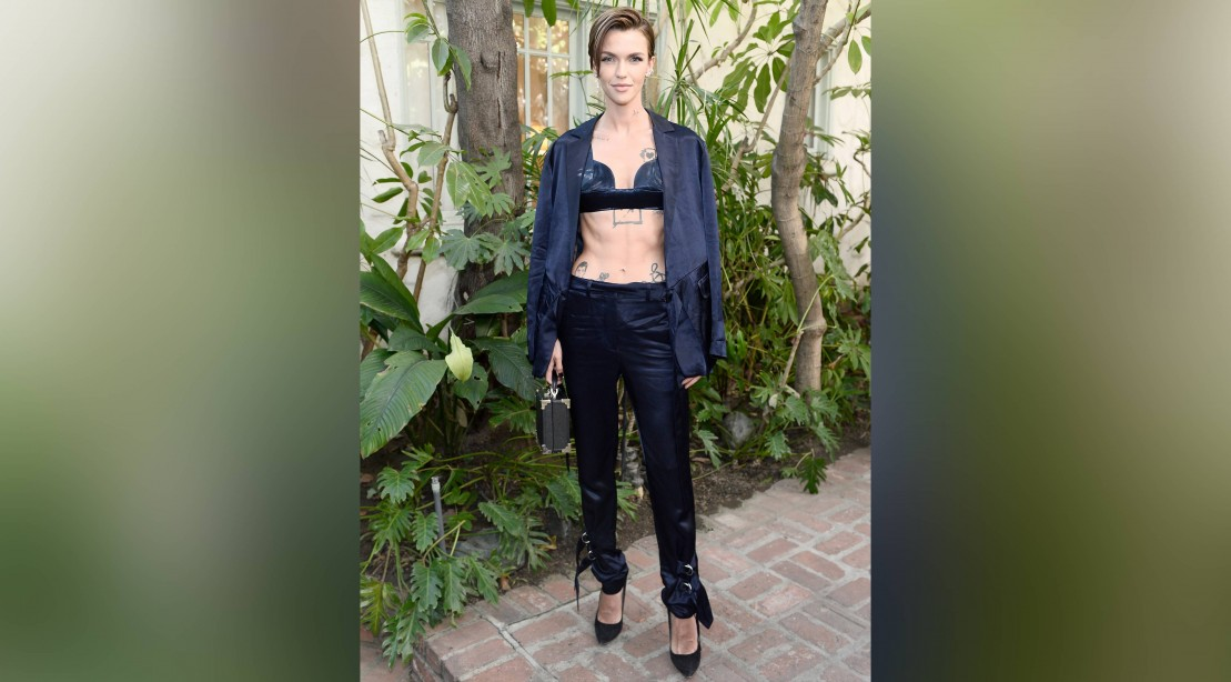 Ruby Rose at the CFDA/Vogue Fashion Fund Show