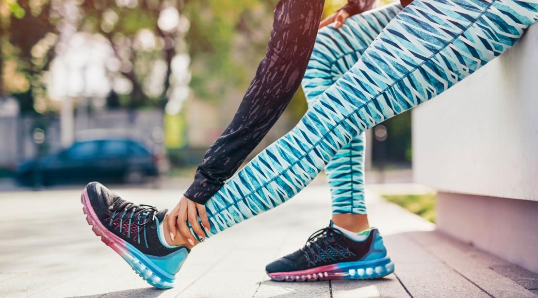 Woman Stretching to Run