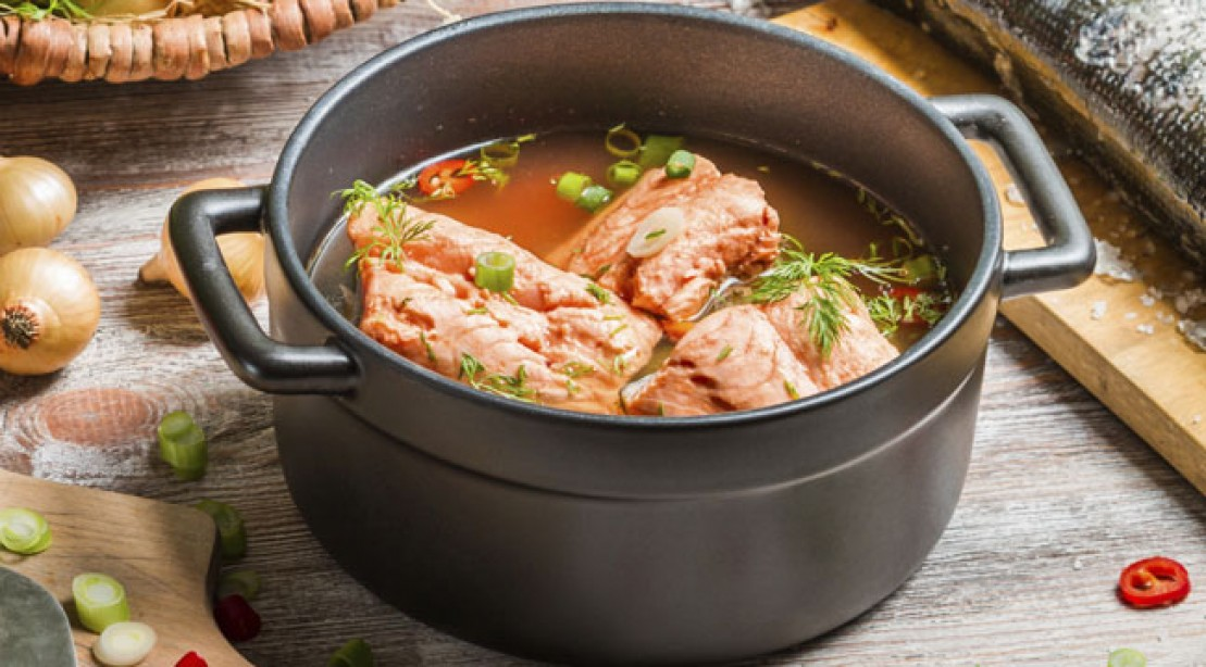 Muscle Man's Salmon and Asparagus Soup Recipe