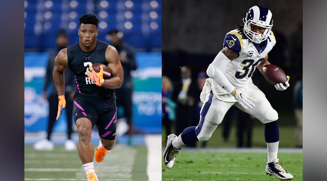 Watch: Saquon Barkley and Todd Gurley Do Next-Level Deadlift Box Jumps