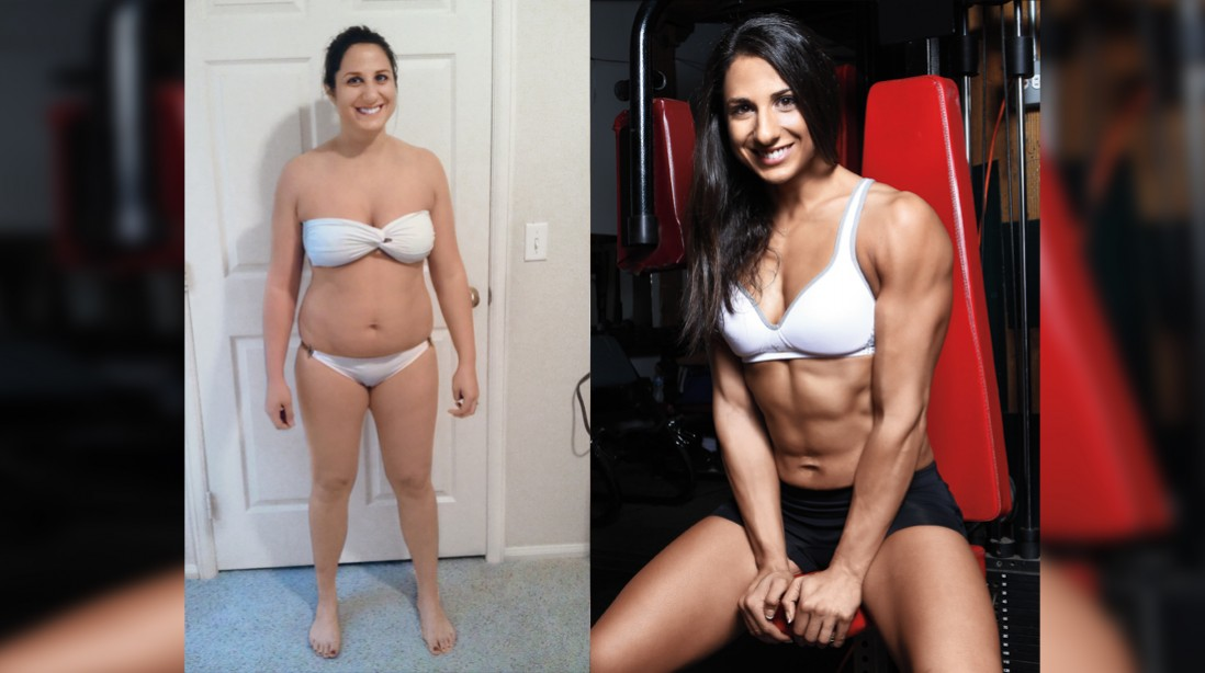 Female muscle gain before and after