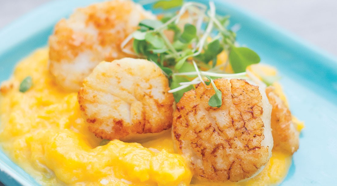 Scallops with Butternut Squash