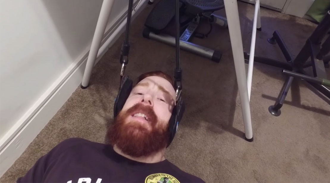Sheamus in a Neck Hammock