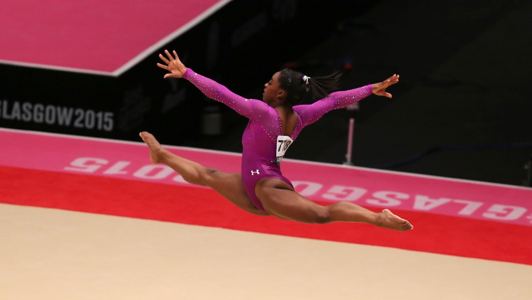 U.S Gymnast Simone Biles Captures 10th Gold Medal