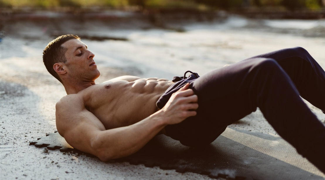 Man performing abs exercise
