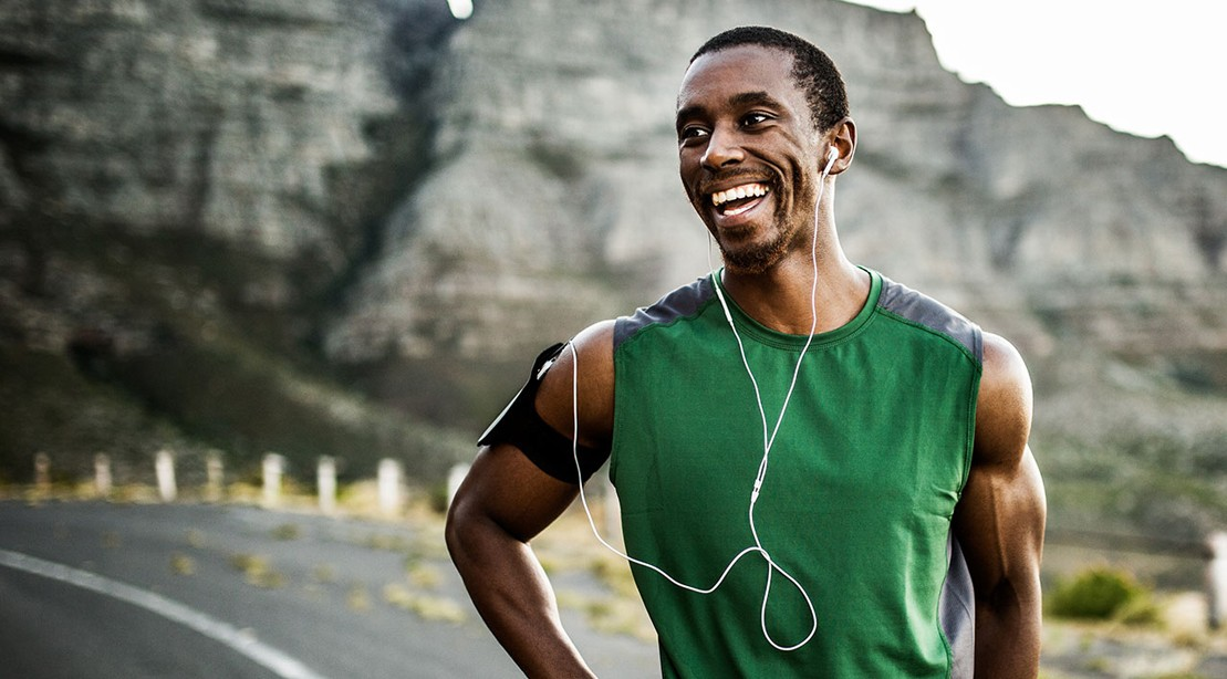 Smiling Man After Jog Run