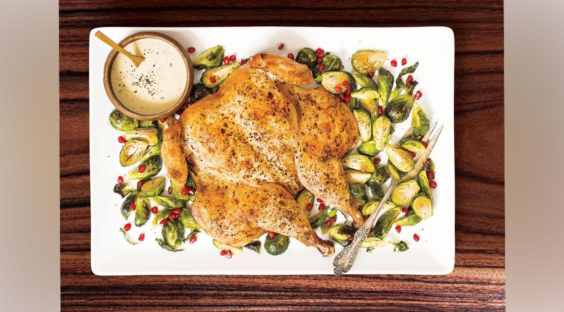 Spiced Spatchcok Roast Chicken