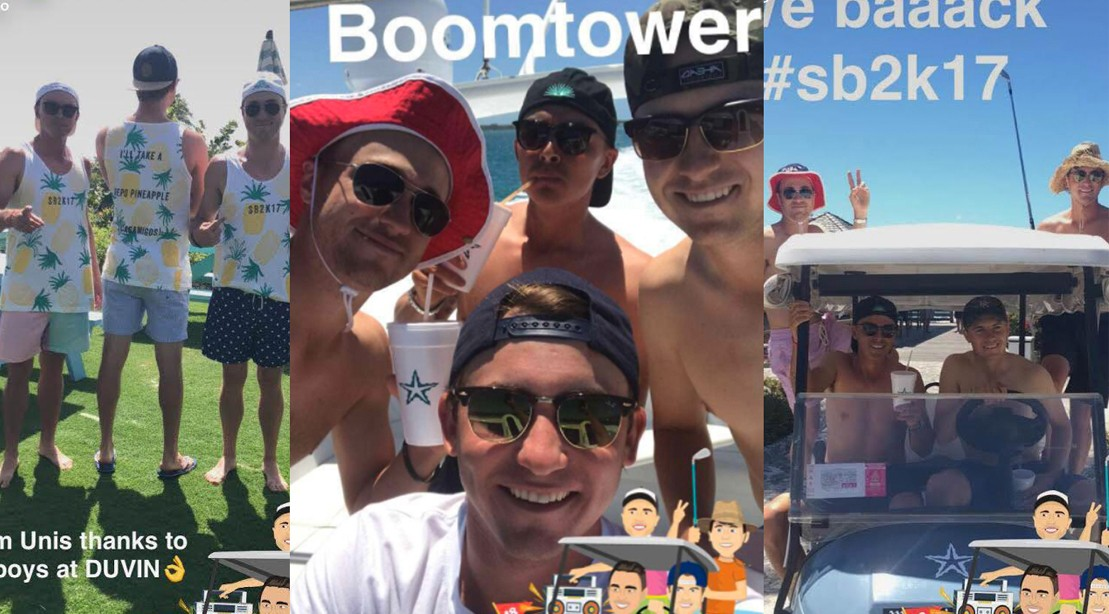 Smylie Kaufman, Jordan Spieth, Rickie Fowler And Justin Thomas Are Back At It For Spring Break 2K17.