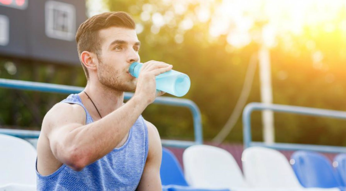 Man Drinking Sports Drink