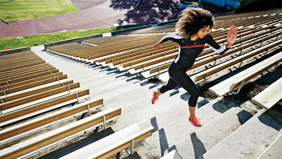 Want an unbeatable cardio workout? Run up the closest set of stairs.