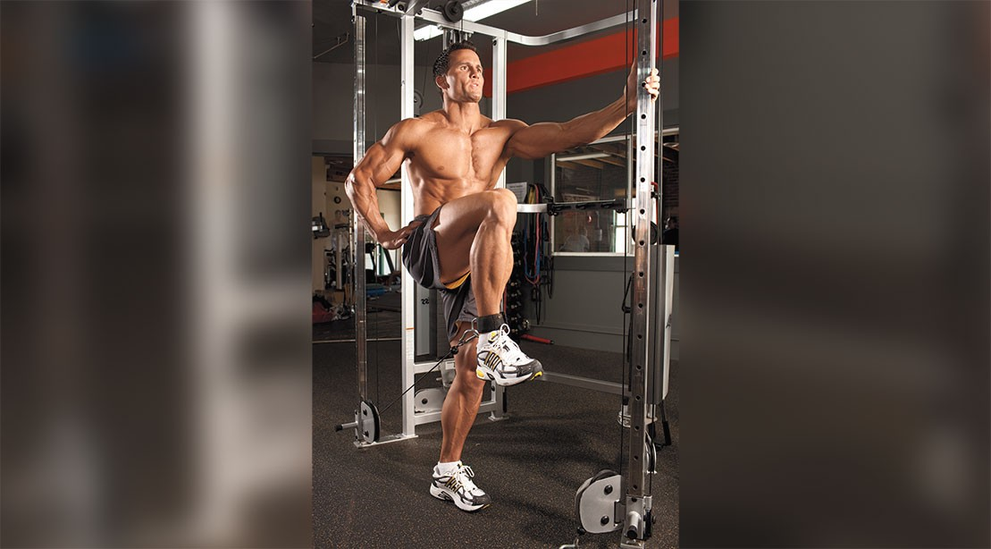 How to Do Standing Cable Knee Raises