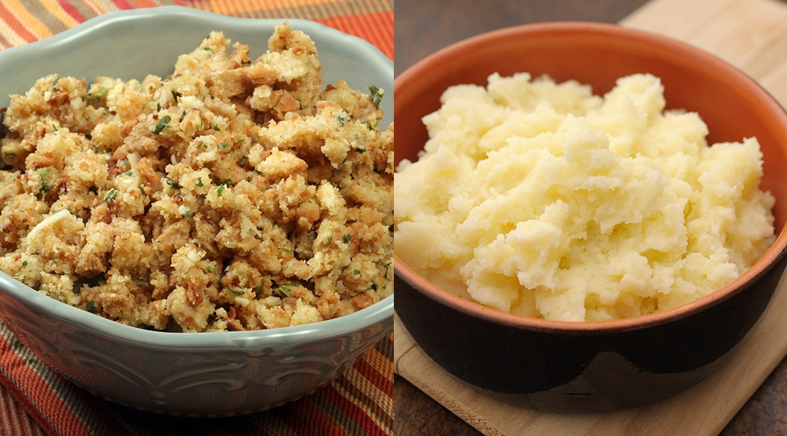 What's Healthier: Stuffing vs. Mashed Potatoes