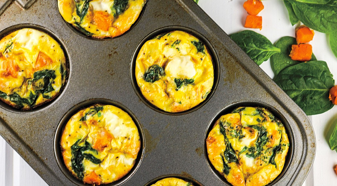 Sweet Potato, Spinach, and Egg Muffins