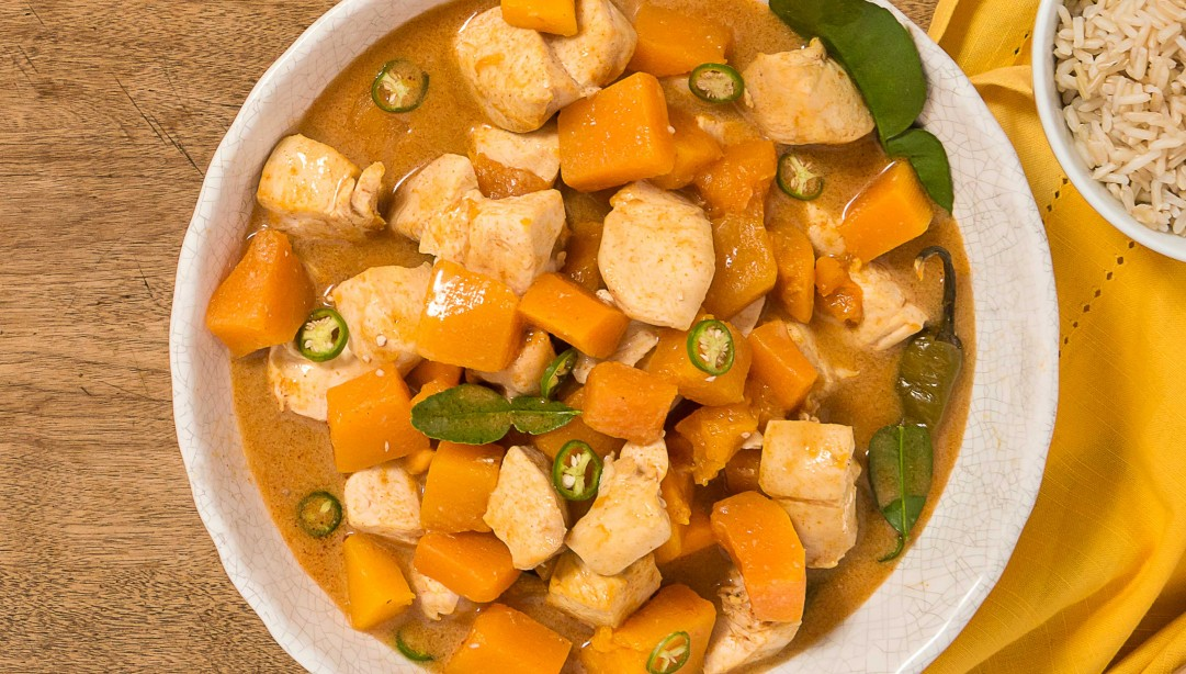 Panang Curry With Pumpkin And Chicken