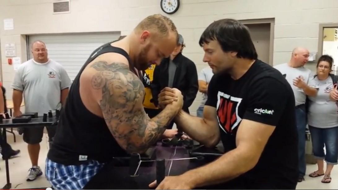 The Mountain Humbled by Arm Wrestling Champ Devon Larratt