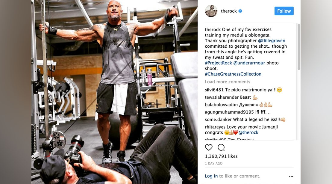 e5e96ddab570c The Rock  Teases New Chase Greatness Spring Summer 2018 Collection ...