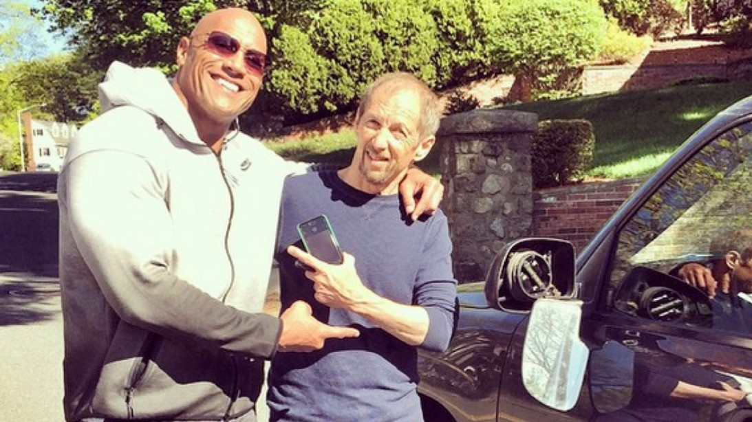 The Rock Hits Someones Car And It's Ok