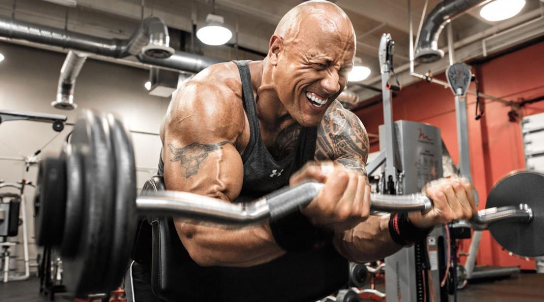 Train Like the Rock: Dwayne Johnson's Arms Routine