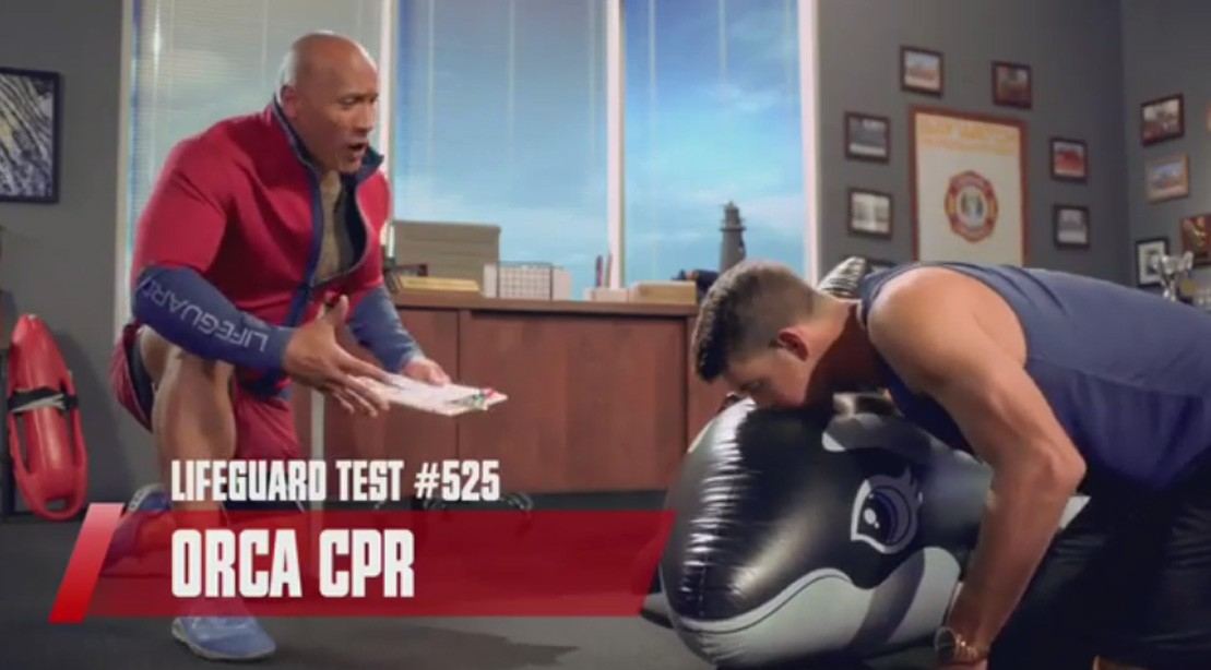 Michael Phelps And Dwayne Johnson In New Baywatch ESPN Commercial