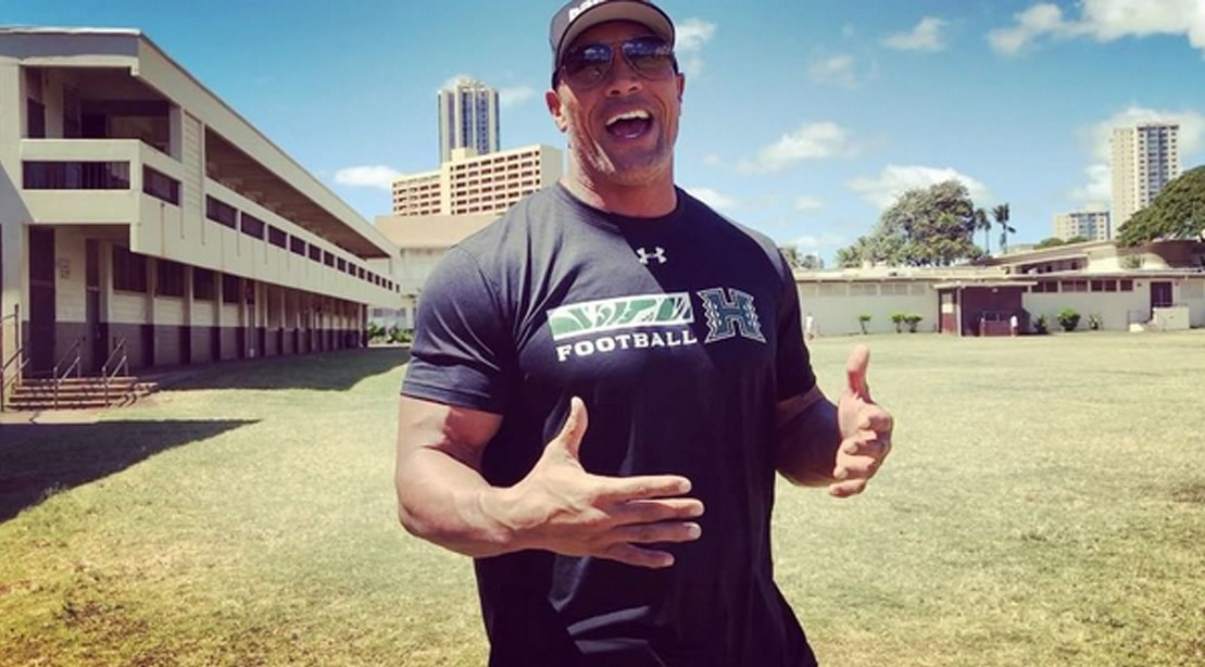 The Rock Returns Back to His Middle School