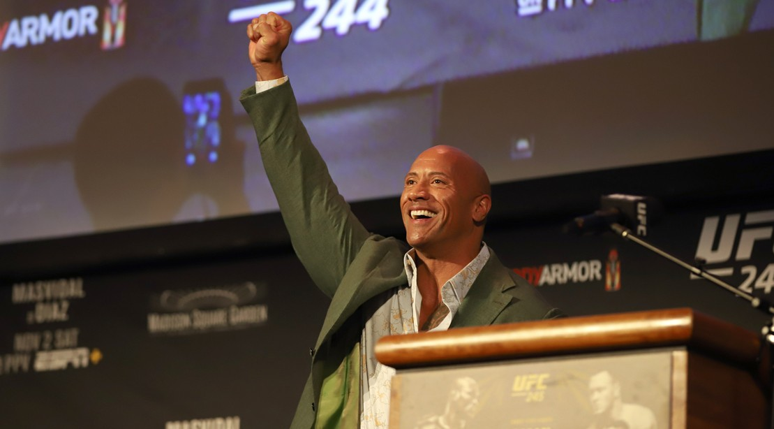The Rock at UFC 244 Weigh-Ins, Madison Square Garden