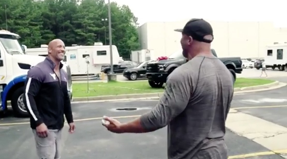 'The Rock' Surprises His Cousin and Stunt Double With a Custom Pickup Truck