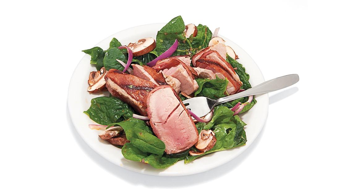 Turkey Bacon and Tuna Salad