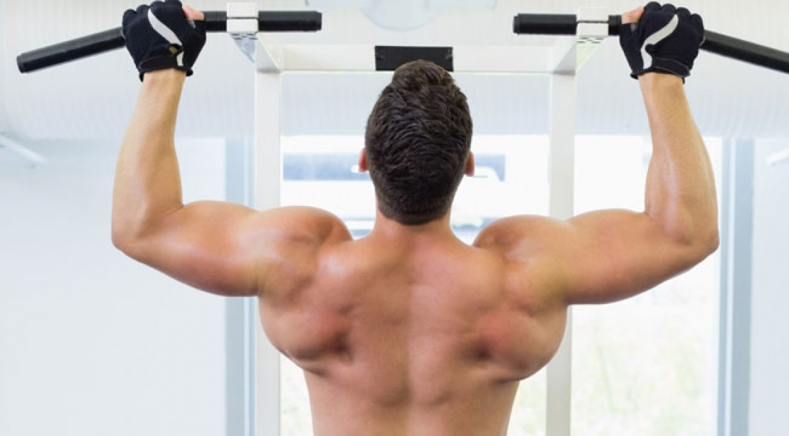wide-grip pull up