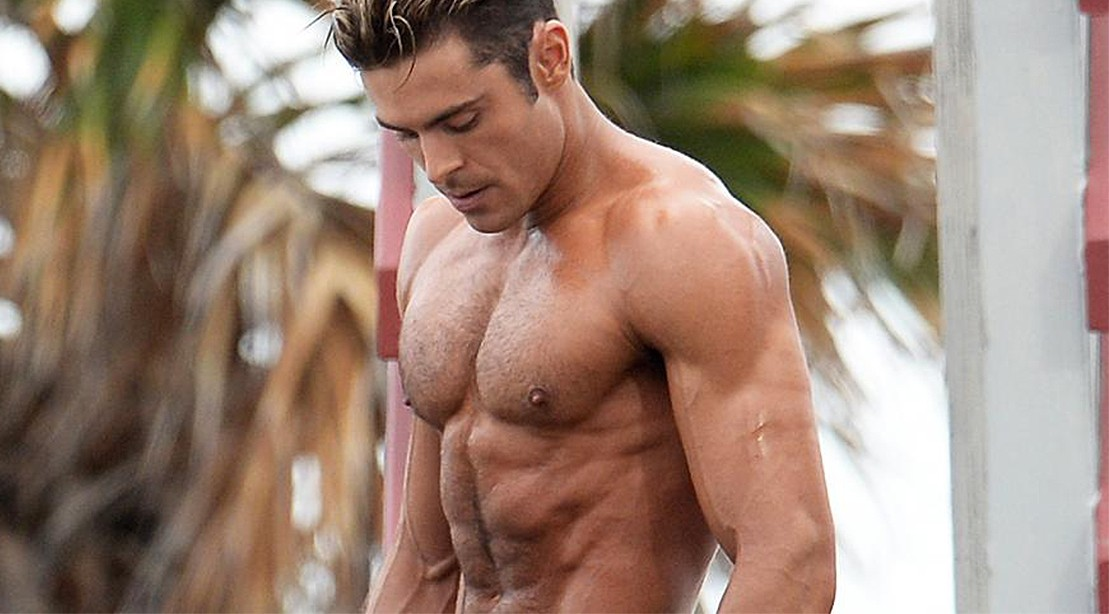 Zac Efron Shirtless While Filming 'Baywatch'