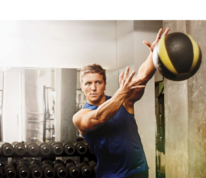 Man Throwing Medicine Ball