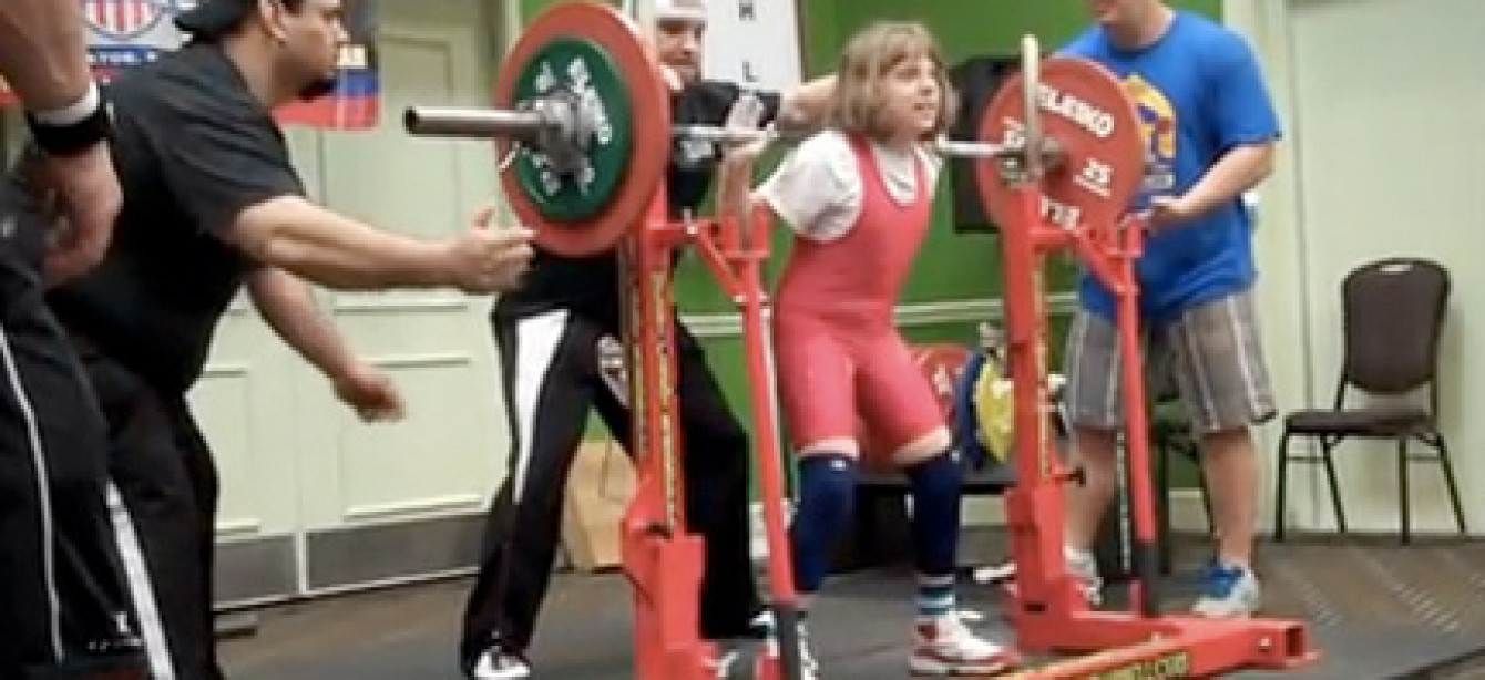 Naomi Kutin, 10, World Record Holder for the Women's Squat with 214.9 lbs