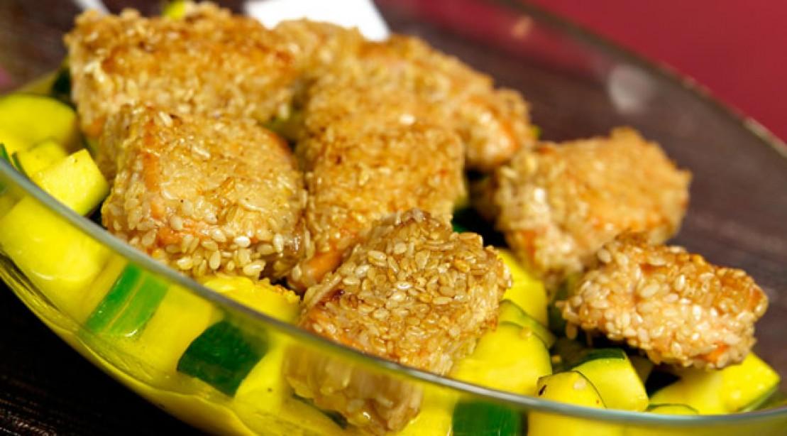 Healthy Eats: Oven-Fried Sesame Fish Recipe