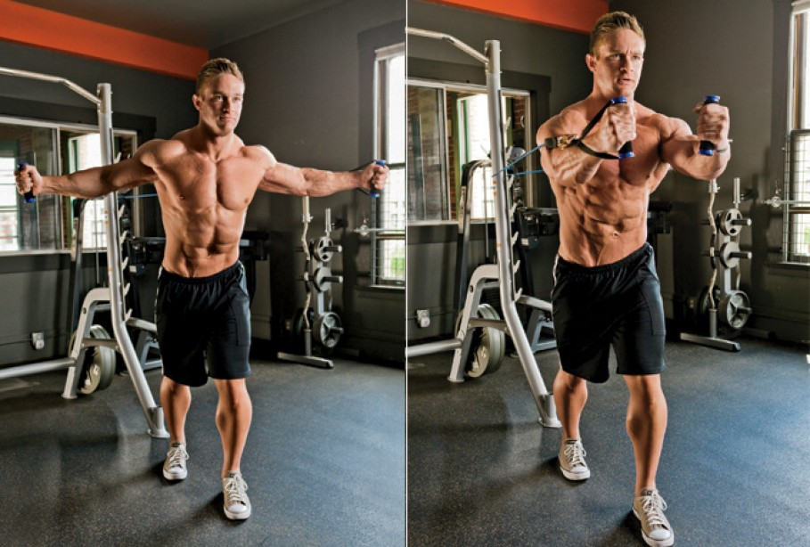 Chest Exercises Strength Band Pec Flye Muscle & Fitness