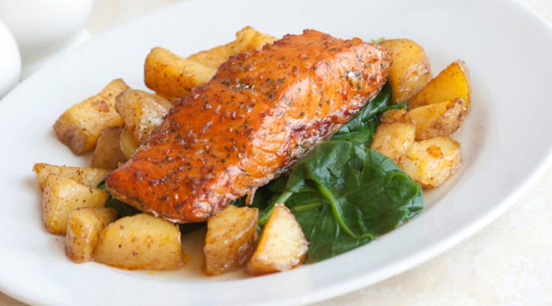 Seared Salmon and Potato Hash